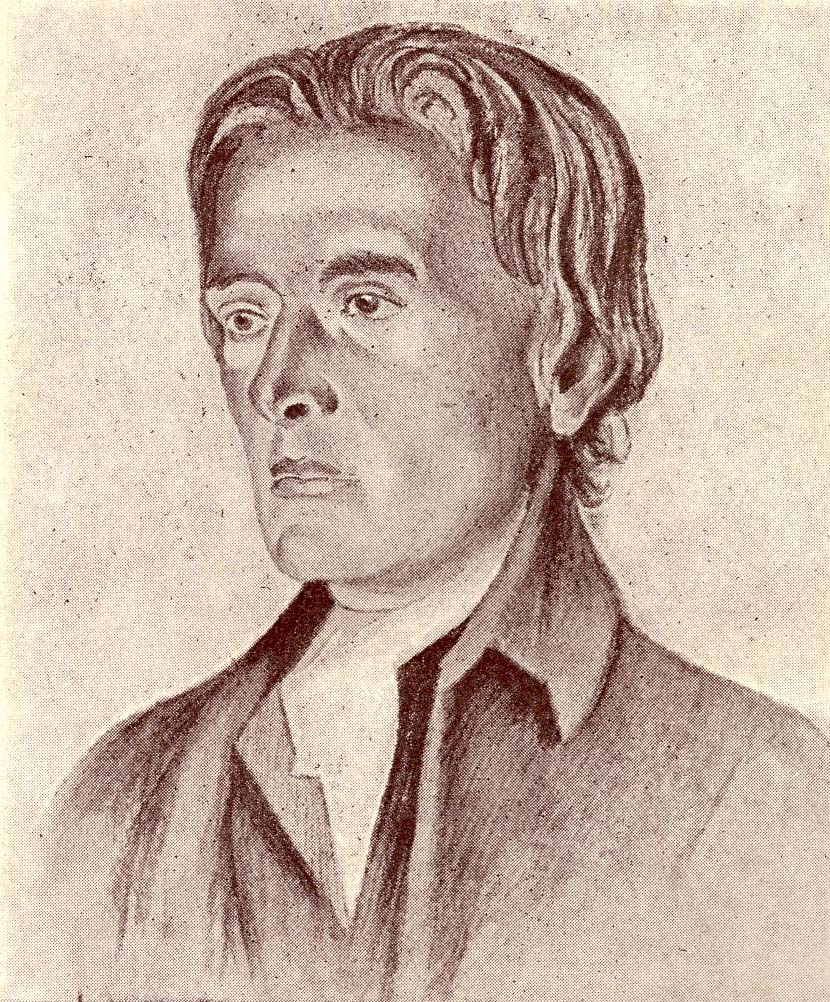 sketch of William Hazlitt