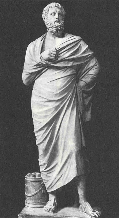 statue of Sophocles